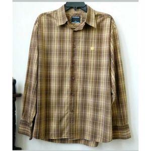 Rocawear Classic Men Shirt Sz L  Brown Long Sleeve